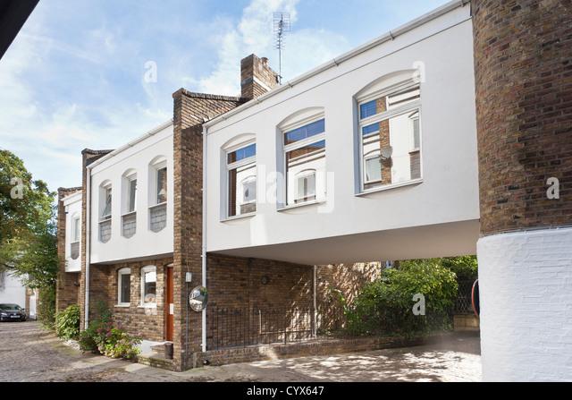 Mews House Exterior. Hampstead, London, England, UK - Stock Image