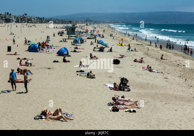 View of Manhattan Beach, California. - Stock Image