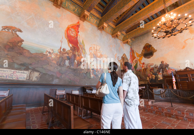 Man court room stock photos man court room stock images for Mural room santa barbara courthouse