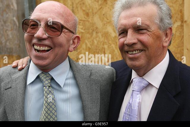 Johnny Giles Right With Long Time Friend And Footballing Colleague Sir Nobby Styles At