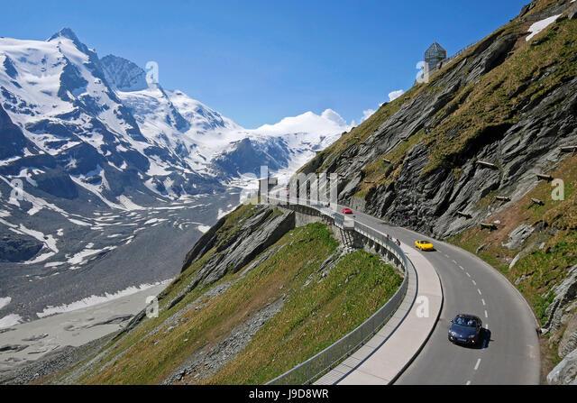 Grossglockner High Alpine Road at Emperor Franz Joseph Height (Kaiser-Franz-Josefs Hohe), Carinthia, Austria - Stock Image