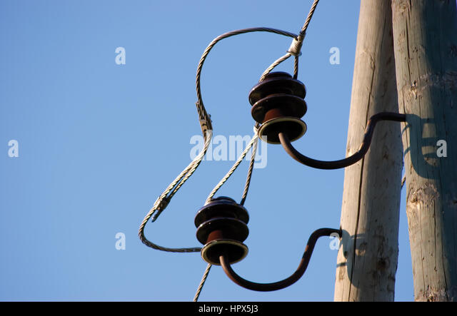 Old Wooden Electric Post Stock Photos & Old Wooden Electric Post ...