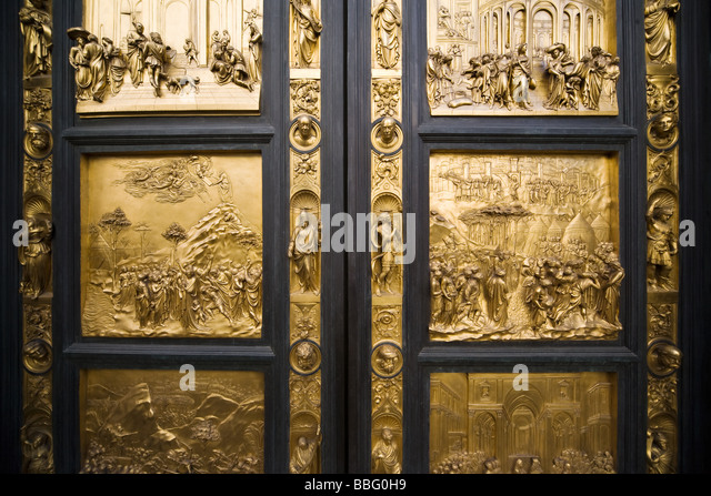 Bronze doors inside the santa maria del fiore - Stock Image & Bronze Doors Stock Photos \u0026 Bronze Doors Stock Images - Alamy Pezcame.Com