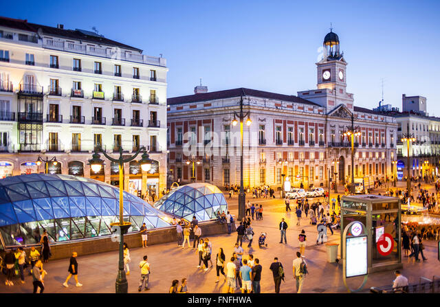 Madrid from the air stock photos madrid from the air for Cc puerta del sol