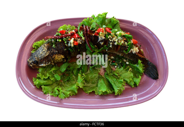 Asian Spicy Grilled Fish Sweet Stock Photos & Asian Spicy Grilled Fish ...