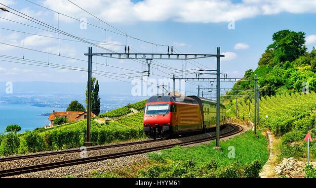Swiss train geneva stock photos swiss train geneva stock for Terrace jogging track
