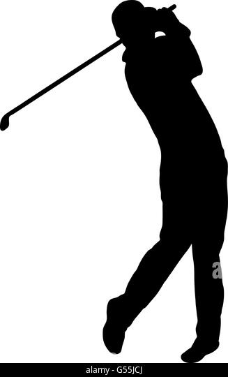 golfer silhouette stock image