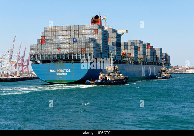 container ship mol prestige singapore entering the port of fremantle western australia - Seecontainerhuser Wa