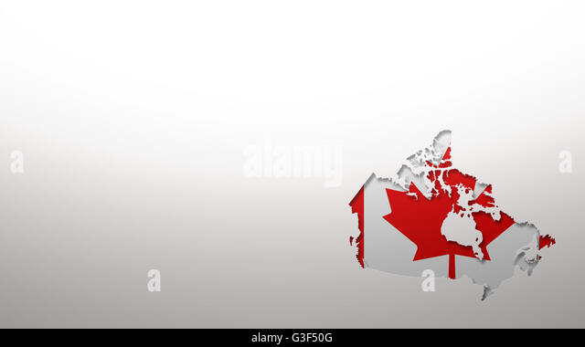 Outline Map Canada Stock Photos Outline Map Canada Stock Images - Canada map with flag