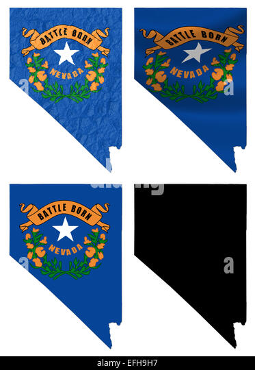 nevada state flag stock photos & nevada state flag stock images