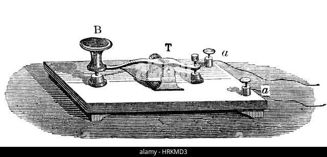 Electrical telegraph stock photos electrical telegraph stock morse telegraph key 19th century stock image asfbconference2016 Choice Image