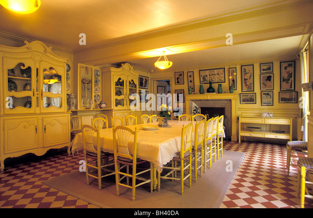 Awesome DINING ROOM FROM THE TIME OF CLAUDE MONET, GIVERNY, EURE (27),