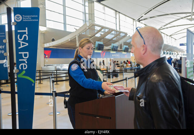 romulus michigan a transportation security administration officer checks the identity of passengers at detroit