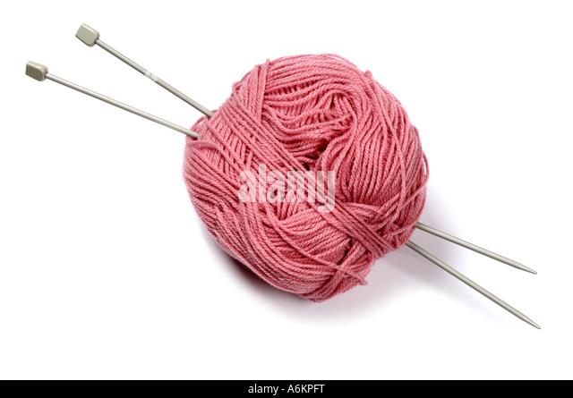 Knitting Needles And Wool : Knitting needles wool cutout stock photos