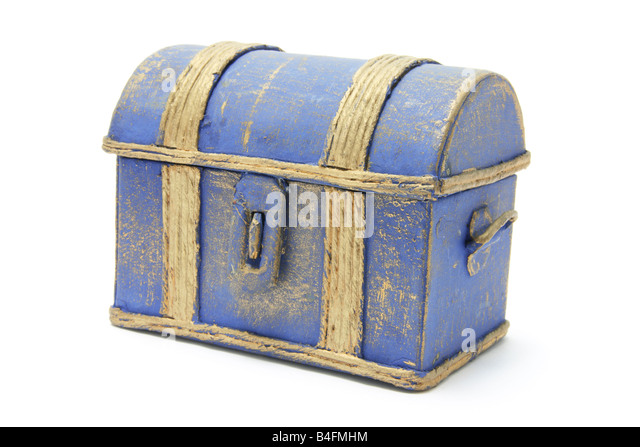 wooden treasure chest stock image