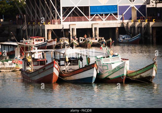 Panama city panama wooden fishing boats stock photos for Panama city beach party boat fishing