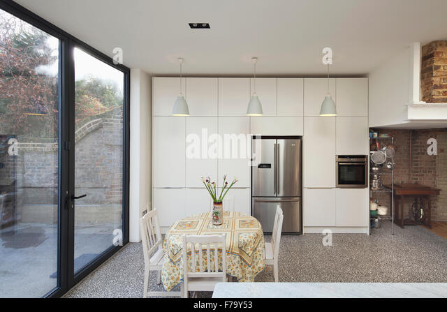 Kitchen extension interior, London 2013, design by FORA Architects - Stock  Image