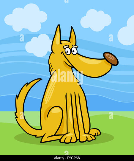 Mongrel Dog Cartoon Illustration Stock Photos Mongrel Dog