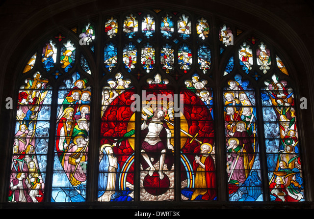 The Last Judgment Window Medieval Stained Glass At Saint Marys Church Fairford