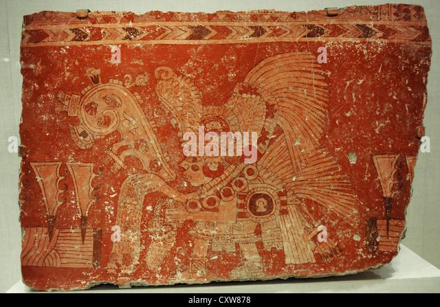 Teotihuacan mural stock photos teotihuacan mural stock for Aztec mural painting