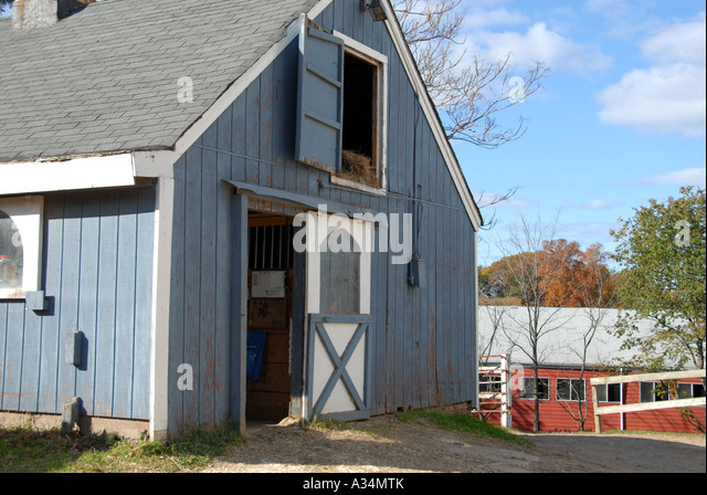 Stable door and hay loft at a horse stable Stanhope Stables Huntington NY - Stock Image & Hay Loft Door Stock Photos u0026 Hay Loft Door Stock Images - Alamy pezcame.com