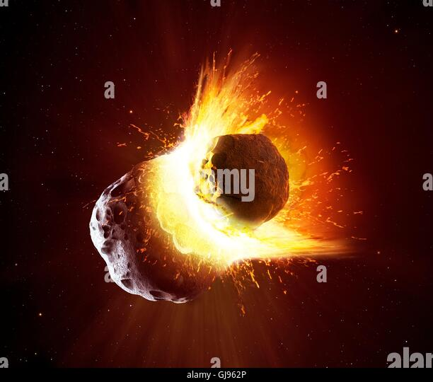 Asteroid collision - Bing images