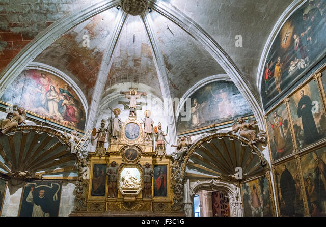 Palma de Majorca, Spain, The sacred paintings of a chapel of the Cathedral - Stock Image