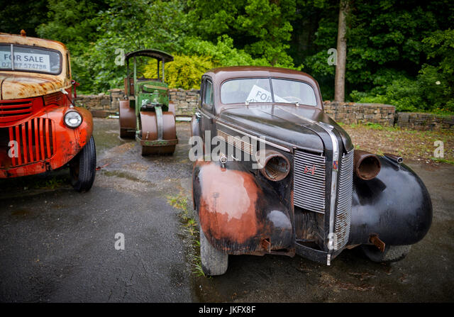 Old american car for sale stock photos old american car for American restoration cars for sale