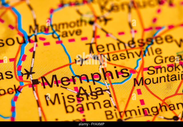 Tennessee Map Stock Photos Tennessee Map Stock Images Alamy - Usa map memphis