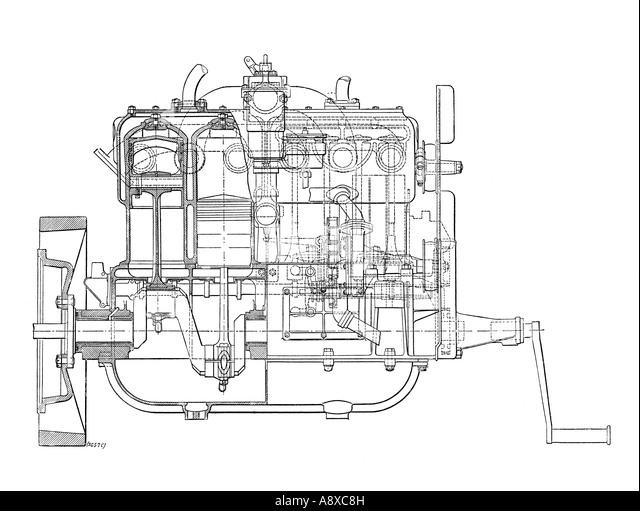 Four Cylinder Engine Stock Photos  U0026 Four Cylinder Engine