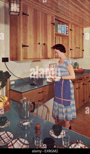 1950s uk kitchens interiors 1950s stock photos 1950s uk kitchens