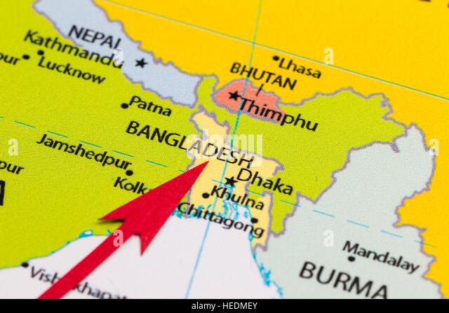 Map Of Bangladesh Stock Photos Map Of Bangladesh Stock Images - Bangladesh map