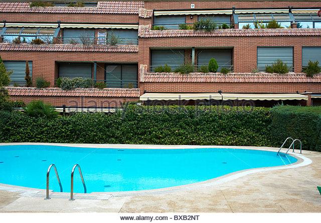 Spain Apartments Pool Stock Photos Spain Apartments Pool