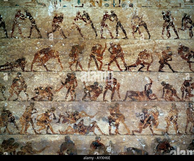 Beni hassan stock photos beni hassan stock images alamy for Beni hasan mural