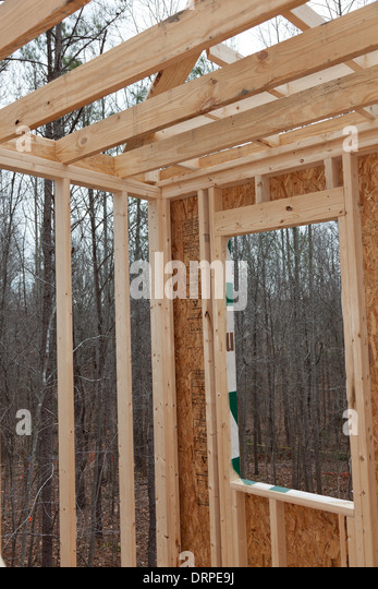 Wood Wall Framing Stock Photos Wood Wall Framing Stock
