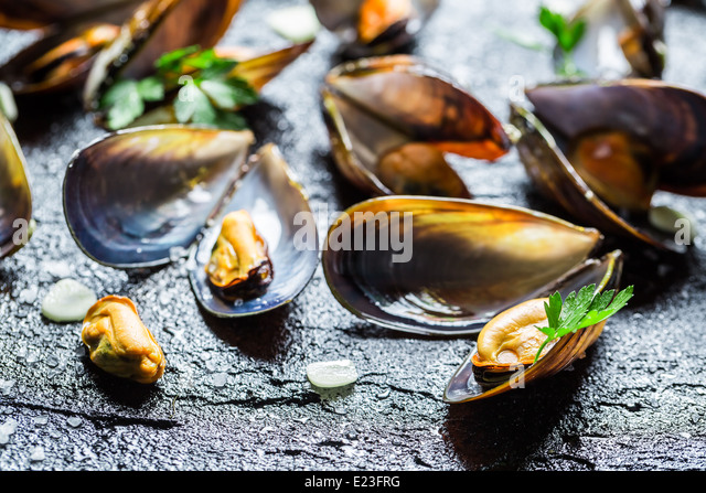 served with garlic and parsley mussels with garlic and parsley freshly ...