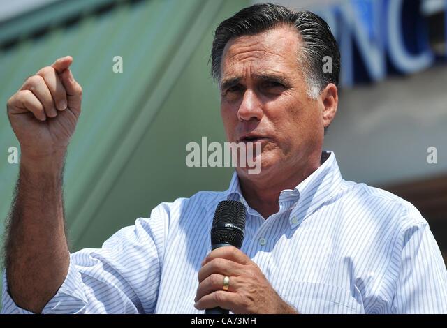 Dewitt (MI) United States  city photos : June 19, 2012 Dewitt, MI, U.S Mitt Romney campaigns before a crowd ...