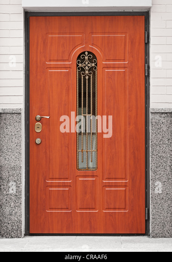 Apartment Building Front Door private apartment building front entrance door stock photos