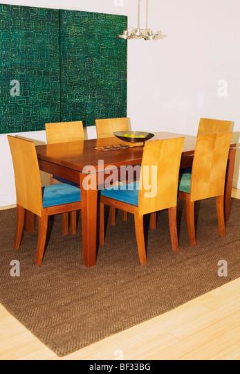 Dining room rug floor stock photos dining room rug floor stock images alamy - Rug dining room and interior ...