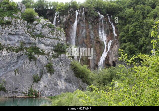River Plitvice Lakes Waterfalls Croatia Stock Photos River Plitvice Lakes Waterfalls Croatia