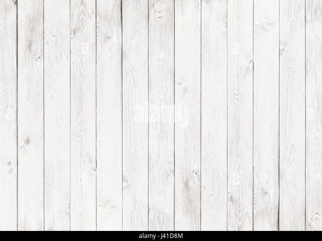 white wood textured background - Stock Image