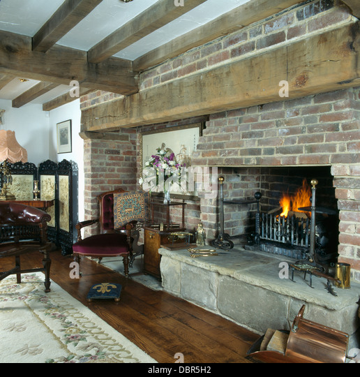 Brick Fireplaces Stock Photos & Brick Fireplaces Stock Images - Alamy