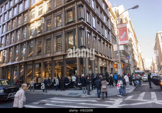 The new Nike store prior to its grand opening in Soho in New York on Friday