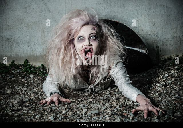 Evil Female Halloween Zombie Bloody Stock Photos & Evil ...