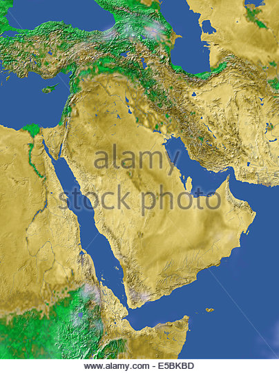Satellite Map Middle East Earth Stock Photos Satellite Map