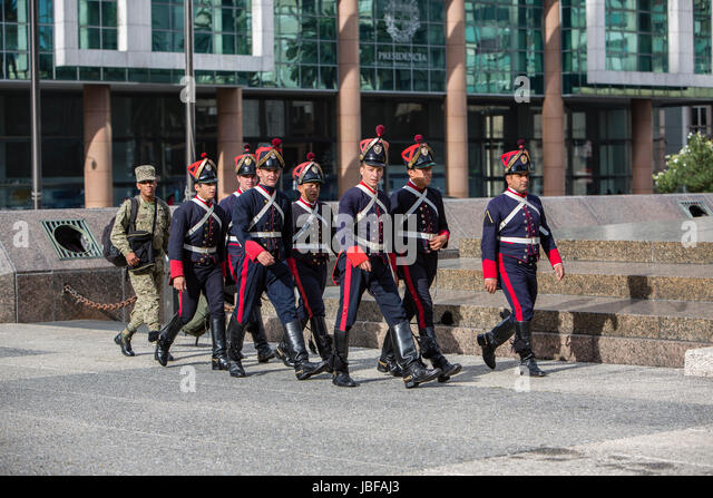 Changing of the guards at Independence Square, Montevideo, Uruguay - Stock Image