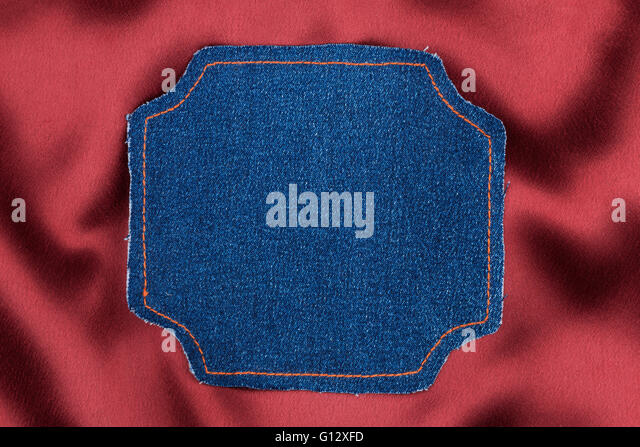 Blue rectangle red border stock photos blue rectangle for Space made of fabric