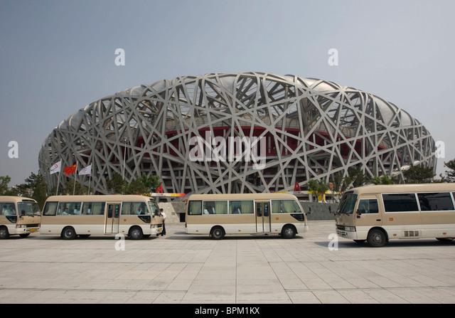 Beijing national stadium bird 39 s nest stock photos for The nest beijing