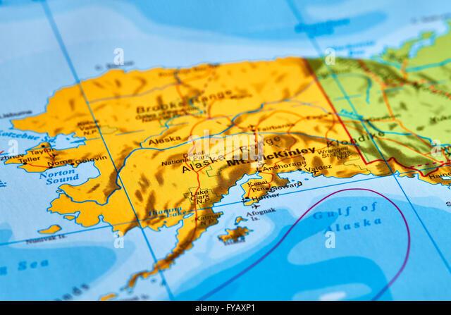 Map Of Alaska Stock Photos Map Of Alaska Stock Images Alamy