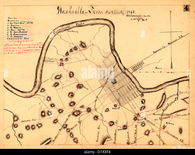 Map Of Civil War Forts Stock Photos Map Of Civil War Forts Stock - Map of the us during civil war